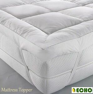 Super Soft Duck Feather Down Mattress Topper Extra Deep 5cm Avail In All Sizes