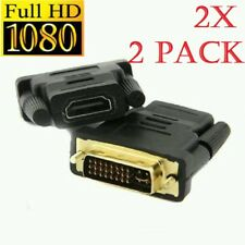 2x DVI-I MALE TO HDMI FEMALE ADAPTER CONNECTOR CONVERTER Gold Plated (24+5)