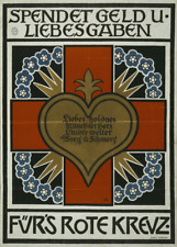 Donates money u. Gifts of love for Red Cross - German WW1 Propaganda Poster