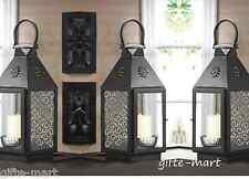 "6 black 15"" tall malta Candle holder Lantern light wedding table centerpieces"