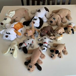 Vintage Lot Of Tonka Pound Puppies Purries Dogs Cats Plush Toys 80s 90s Large