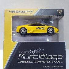 Road Mice Lamborghini Murcielago Wireless Optical Mouse HP-11LGMCYXA Hertz