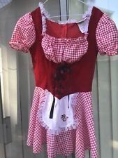 Charades Costume Little Red Riding Hood Costume dress only size Medium women's