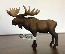 Schleich 14781 Moose Bull Toy Figurine Wild Life Series Nwt