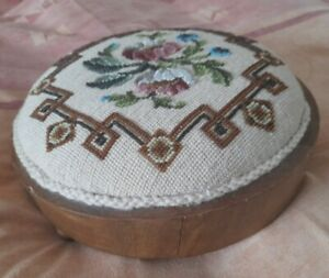 Vintage Beaded Footstool.