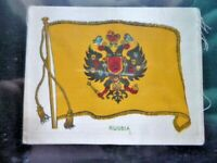"""MURATTI 1914 WW1 SILK """"FLAGS"""" (SERIES C) RUSSIA NO.14 WITH PAPER BACKING."""