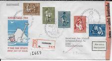 Netherlands Nederland Scott B271-B275 Fdc Child Welfare November 15, 1954