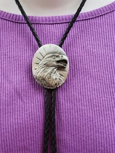 screaming Eagle Bolo Tie W/black Leather Cord #870295
