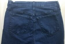 NYDJ NOT YOUR DAUGHTERS JEANS Capri Womens Blue Jeans Size 4 26 Crop Dark Wash