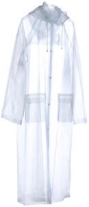 Wiederverwendbarer Regenmantel - transparenter Mehrweg Mantel