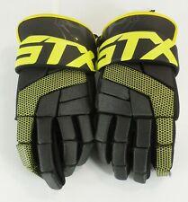 "Stx Stallion 100 Lax Lacrosse Gloves Black & Yellow Large 13"" Euc"