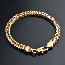 750er Gold Damen herren Armband Gliederarmband 18 Karat GELBGOLD vergoldet