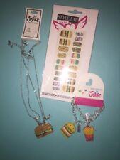 Justice Emoji BFF Hamburger Fries Jewelry Lot NWT Best Friend 🍟 Necklace
