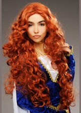 Womens Brave Style Auburn Medieval Princess Wig