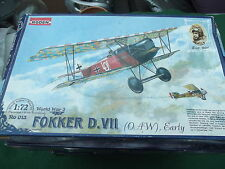 RODEN WW 1 FOKKER D.VII AS FLOWN BY ERNST UDET 1:72 SCALE MODEL KIT