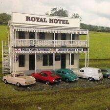 The Royal HOTEL w-Verandahs HO 1/87 scale Laser cut Wood kit