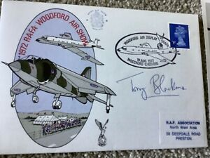 RAF SIGNED FIRST DAY COVER FDC SIGNED RARE COVER WOODFORD AIR SHOW