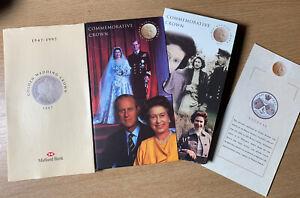 1997 Royal Mint Golden Wedding Commemorative Crown Coin Midland Bank 1947-1997