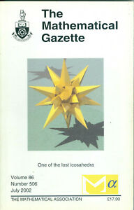 """The Mathematical Gazette"" - Volume 86, Number 506, July 2002,  