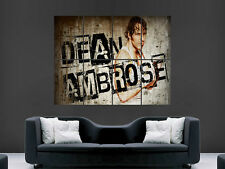 WWE dean ambrose wrestling USA sport mur Poster Art Photo Impression Grand énorme