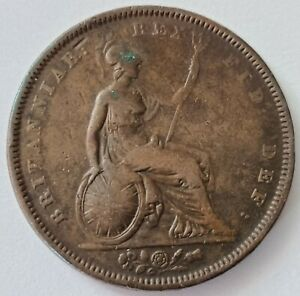 1831 William IV 1 Penny Copper Coin