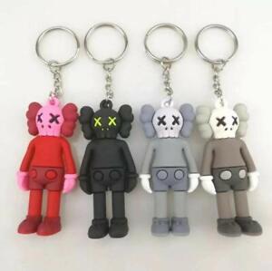 4pcs KAWS | 3D Keyring/Keychain | Black, Red, Grey, Brown