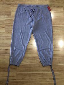New Women's Xhilaration Terry Cloth Lounge Pajama Pants Periwinkle Blue Medium