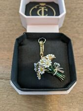 BNIB Juicy Couture Flower Bouquet - Daisy Butterfly Pave Crystal Bow