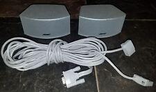 Pair Bose Cinemate 3-2-1 321 Series I II III GS GSX Gemstone Speakers w/ cables