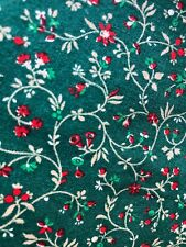 Napkins Christmas Green Red Floral