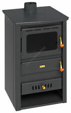 Wood Burning Stove Back Boiler Multi Fuel Fireplace Cast Iron Top Prity K22CPW10
