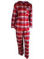New Ladies Ex M&S Cotton Revere Collared Pyjamas Set Lounge Nightwear Size 8-22