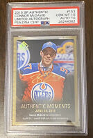 2015 SP AUTHENTIC Connor McDavid Limited Autograph Rookie/Auto Card!! Perfect 10
