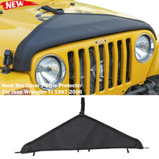 Front Hood Bra Cover T Style Protector Decor For Jeep Wrangler Tj 1997 06 Black Fits 1997 Jeep Wrangler
