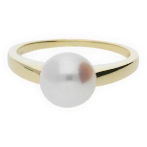JuwelmaLux Ring Gelbgold 585er 14 Karat mit Akoyaperle JL20-07-0042