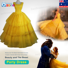 Beauty and The Beast Adult Belle Princess Cosplay Costume Ball Gown Fancy Dress