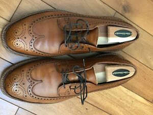 Alden JCrew Longwing Blucher 10 D Tobacco Calf Barrie Last