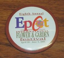 Epcot 8th Annual International Flower & Garden Festival 2001 3 Inch Pin / Button