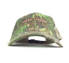 Brown Strauss Steel Embroidered Real Tree Camo Baseball Cap Hat Adj Adult Size