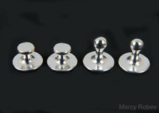 Silver Clergy Collar Polished Studs Set (Stainless Steel), SUBS304 S, Christian