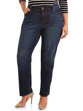 Terra e cielo Classico Jeans Gamba Dritta con controllo della pancia, medio lavaggio scuro, 24W