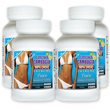 4 Pack PURE Garcinia Cambogia Extract Natural Weight Loss 60% HCA Diet