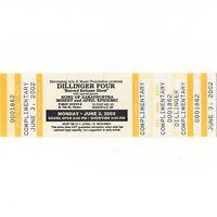 DILLINGER FOUR Concert Ticket Stub MINNEAPOLIS MN 6/3/02 FIRST AVENUE Rare