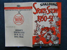 SPALDING SPORTS SHOW FOR 1950-51 Magazine by A. G Spalding - Quincy IL Store