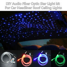 12V Audio Fiber Optic Star Light Kit Decorate Car Headliner Roof Ceiling Light