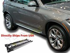 BMW X5 F15 2014-2017 Aluminum Side Step Running Board Nerf Bar Black Silver