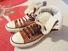 Converse All Star daim Polaire chaussures boots homme UK 4 Euro 36.5 cm femme UK 6