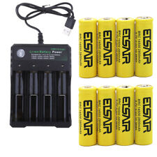 14500 3.7V 2800mAh Li-ion Lithium Rechargeable Battery USB Intelligent Charger
