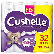 Cushelle 32 White Toilet Roll Tissue paper | Extra softness Recyclable 2 ply XXL