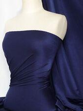 Navy 4 way stretch shiny lycra fabric Q54 NY